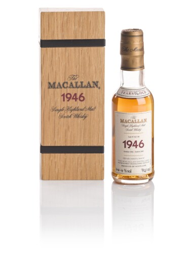 View 1. Thumbnail of Lot 141. THE MACALLAN FINE & RARE 56 YEAR OLD 44.4 ABV 1946 .
