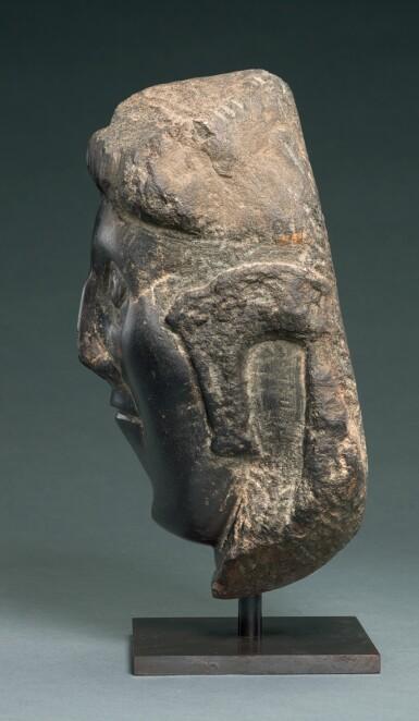 View 2. Thumbnail of Lot 6. IRISH, CIRCA 11TH CENTURY | HEAD OF A BISHOP SAINT.