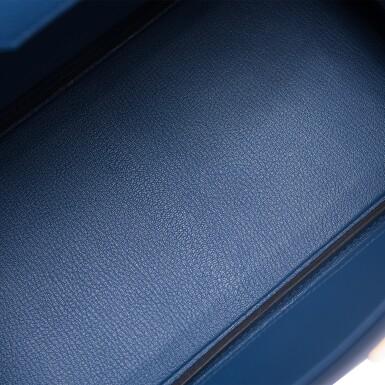 View 7. Thumbnail of Lot 9. Hermès Bleu Brighton Birkin 30cm of Epsom Leather with Gold Hardware.