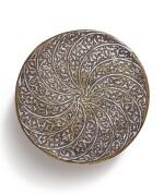 A MAMLUK 'VENETO SARACENIC' SILVER-INLAID COVERED BRASS BOWL, SYRIA OR EGYPT, 15TH CENTURY