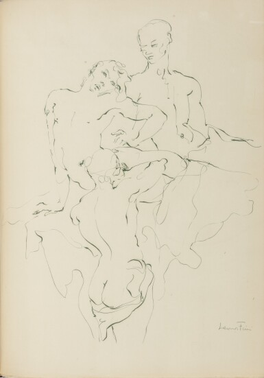 View 2. Thumbnail of Lot 12. JEAN GENET AND LEONOR FINI | LA GALÈRE. (PARIS: PRINTED FOR THE AUTHOR BY JACQUES LOYAU) 1947.