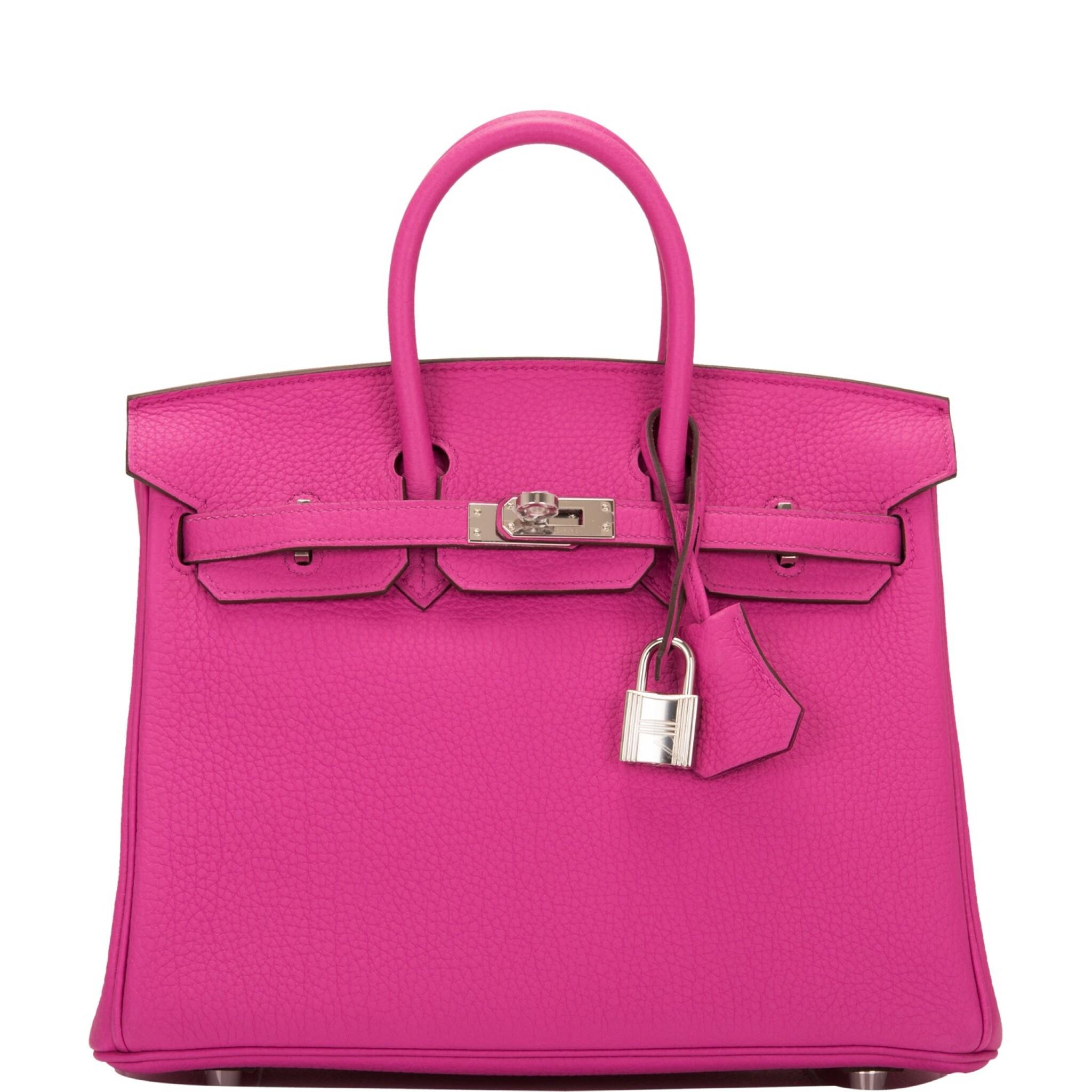 View full screen - View 1 of Lot 4. Hermès Magnolia Togo Birkin 25cm Palladium Hardware.
