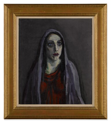 View 2. Thumbnail of Lot 13. Portret van Charlotte Theresia Catharina Köhler (1892-1977) (Portrait of Charlotte Theresia Catharina Köhler (1892-1977)).