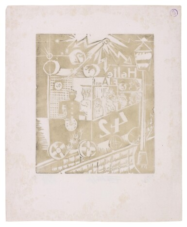 View 18. Thumbnail of Lot 60. Neun Holzschnitte (K. 23-31) (Nine woodcuts (K. 23-31)) .