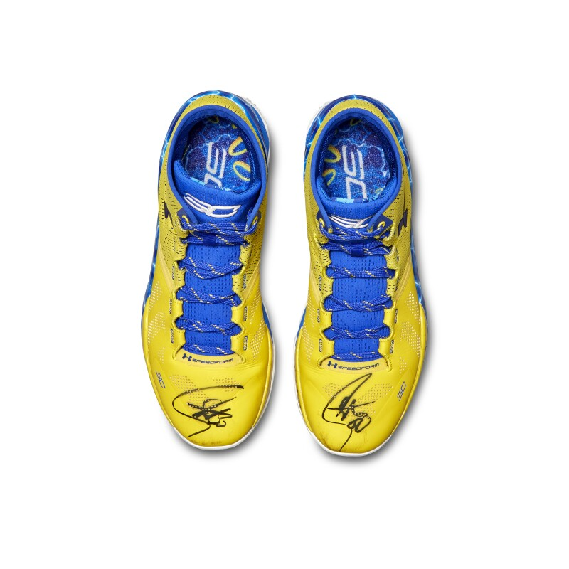 Under Armour Stephen Curry Game Worn Dual Signed Curry 2
