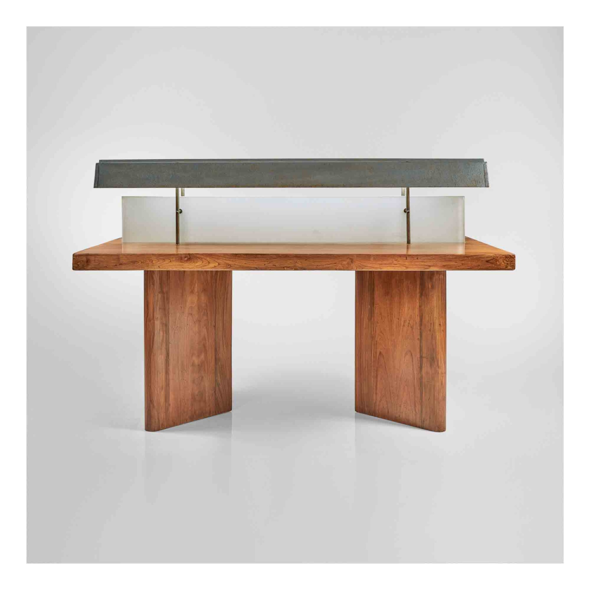 View 1 of Lot 358. Reading Table with Light, Model No. PJ-TAT-10-A.
