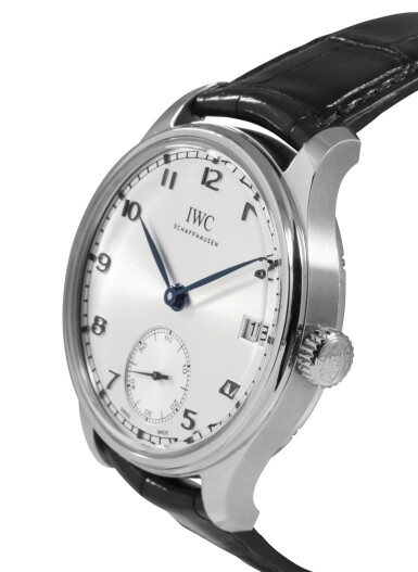 IWC | PORTUGIESER BFI FILM FESTIVAL, REF 510207 LIMITED EDITION STAINLESS STEEL WRISTWATCH WITH DATE AND 8-DAY POWER RESERVE INDICATION CIRCA 2016