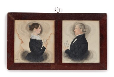 View 2. Thumbnail of Lot 6. Group of Five Miniature Portraits of the Pomeroy Family.
