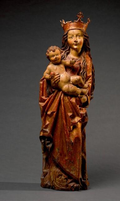 CIRCLE OF DANIEL MAUCH (CIRCA 1477-1540), GERMAN, ULM, CIRCA 1510-1515 | VIRGIN AND CHILD ON A CRESCENT MOON