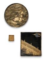DEUX SUZURIBAKO EN LAQUE JAPON, ÉPOQUE EDO - MEIJI   日本 江戸至明治時代 蒔絵繪漆硯盒二件  Two lacquer suzuribako, Japan, Edo-Meiji period