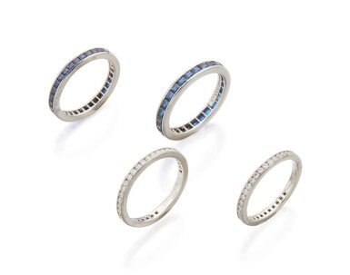 TWO DIAMOND RINGS AND TWO SAPPHIRE RINGS, TIFFANY & CO.