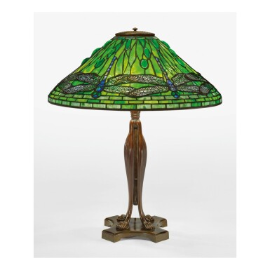 "TIFFANY STUDIOS   ""DRAGONFLY"" TABLE LAMP"