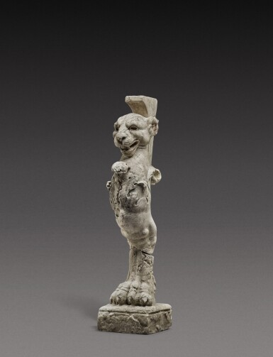 View 3. Thumbnail of Lot 140. Italian, 19th century, After the Antique   Table Leg in the form of a Lion.