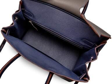 View 5. Thumbnail of Lot 1868. Bleu Nuit and Gris Mouette Togo HSS Birkin 30 Brushed Palladium Hardware, 2021 | 愛馬仕 | 夜空藍及海鷗灰30公分柏金包,具愛馬仕定製馬蹄印,配霧面鍍鈀金屬件,2021年.