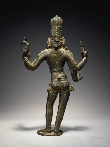 View 2. Thumbnail of Lot 355. A COPPER ALLOY FIGURE OF SHIVA VINADHARA SOUTH INDIA, TAMIL NADU, CHOLA, CIRCA 12TH CENTURY.