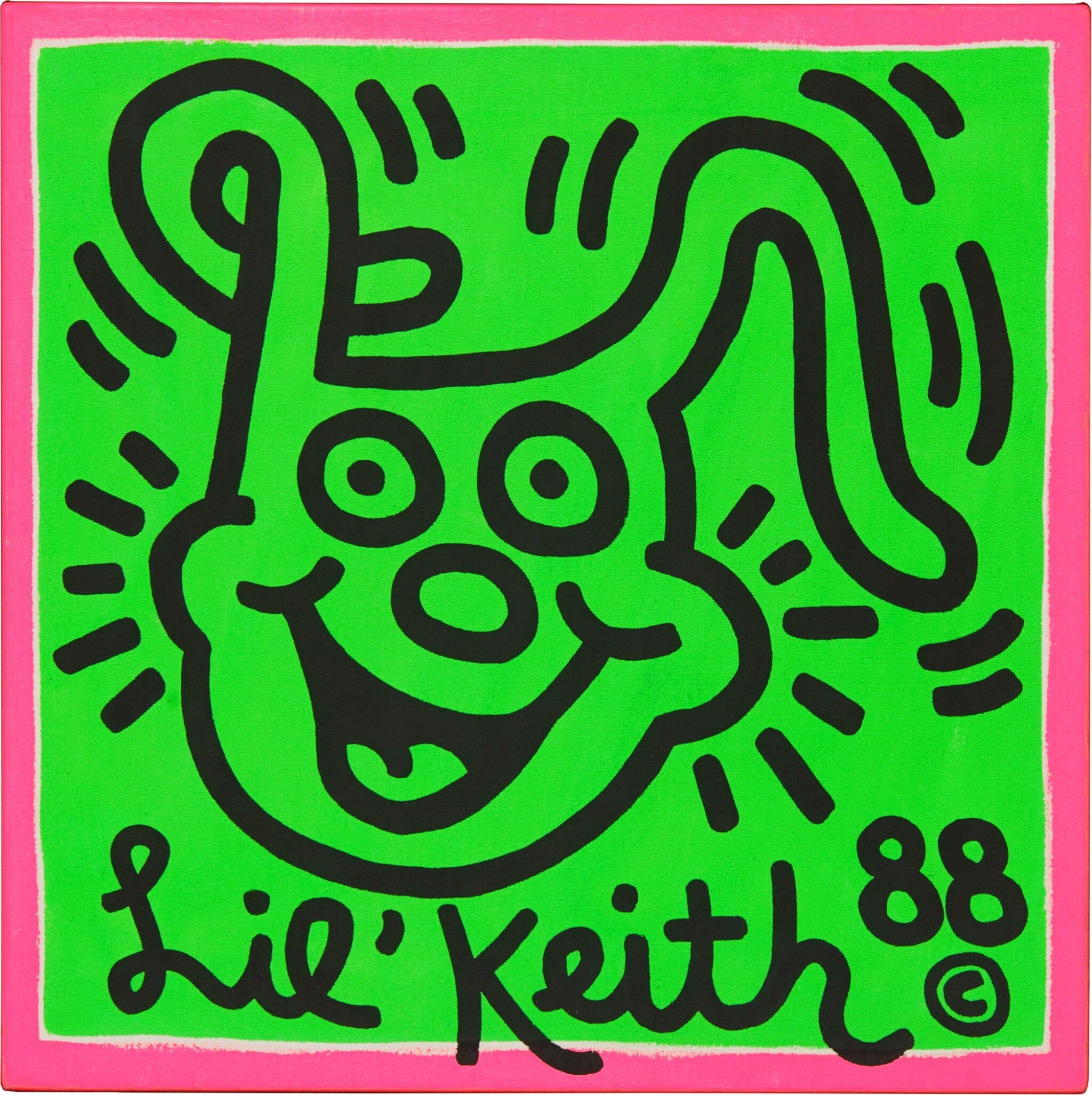 View full screen - View 1 of Lot 568. Keith Haring 凱斯・哈林 | Untitled (Lil Keith) 無題(小凱斯).