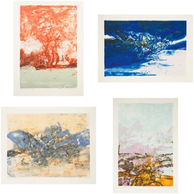 ZAO WOU-KI | UNTITLED [SANS TITRE] (4 WORKS)