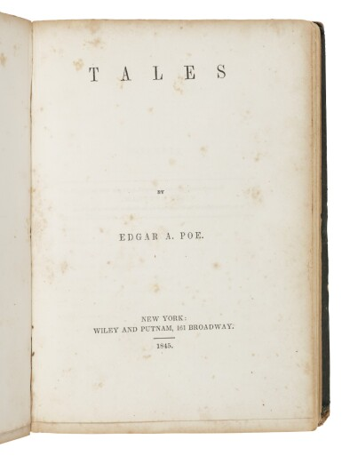 "View 2. Thumbnail of Lot 111. Poe, Edgar Allan   The ""marrow of Poe""."
