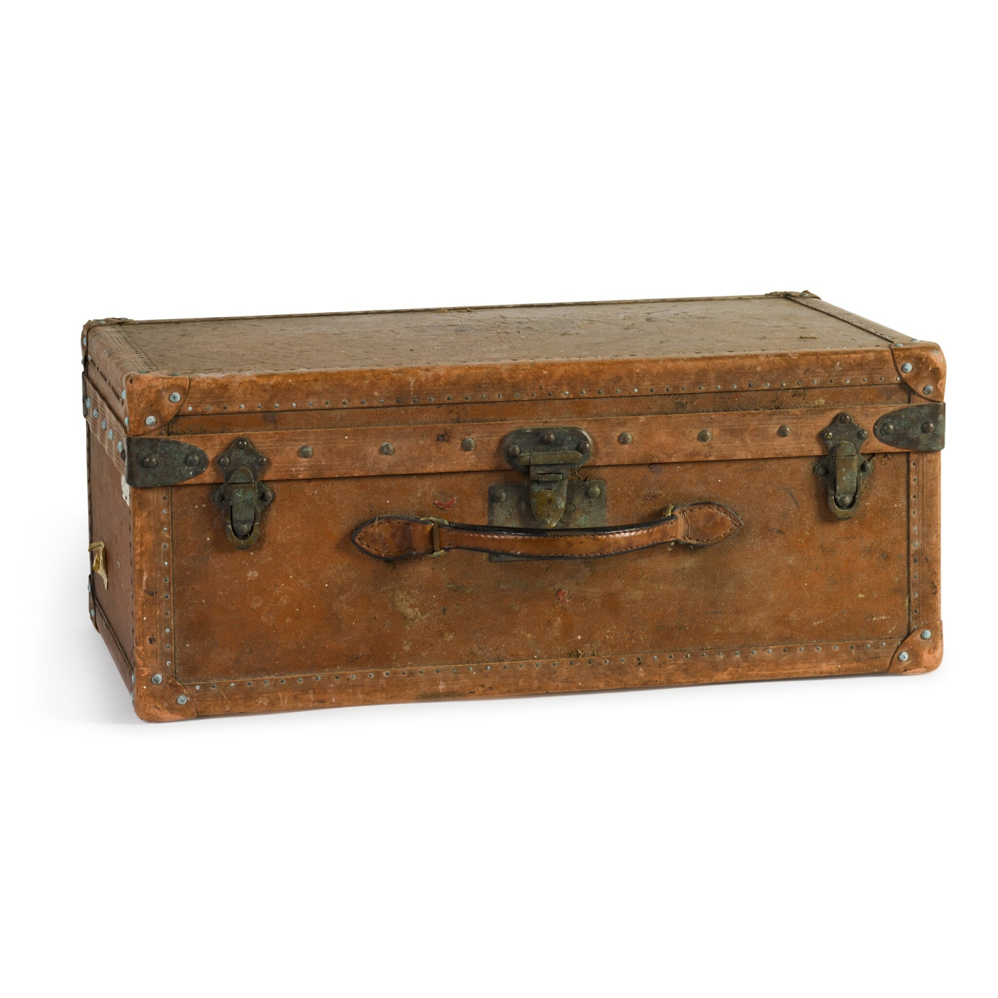View full screen - View 1 of Lot 46. A French leather travelling case by Goyard of Paris, early 20th century.