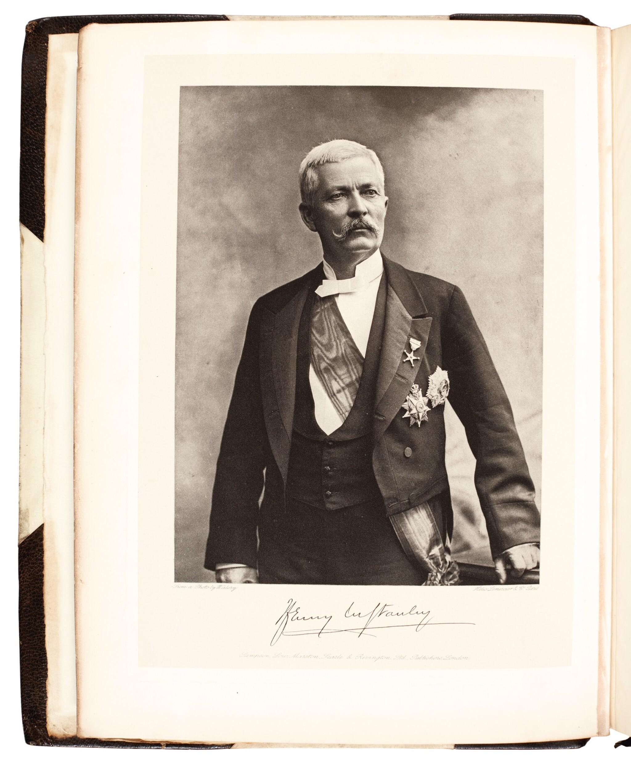 View full screen - View 1 of Lot 102. Stanley | In darkest Africa, 1890, 2 volumes .