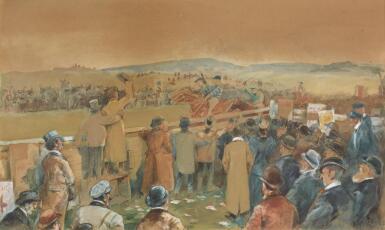 JACK BUTLER YEATS, R.H.A.   BUNGAY 1896, 'THE TIPPLER RUSH'