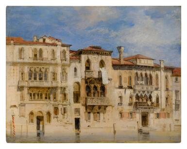 View 1. Thumbnail of Lot 38. The Palazzi Manolesso-Ferro, Contarini-Fasan and Venier-Contarini on the Grand Canal, Venice.