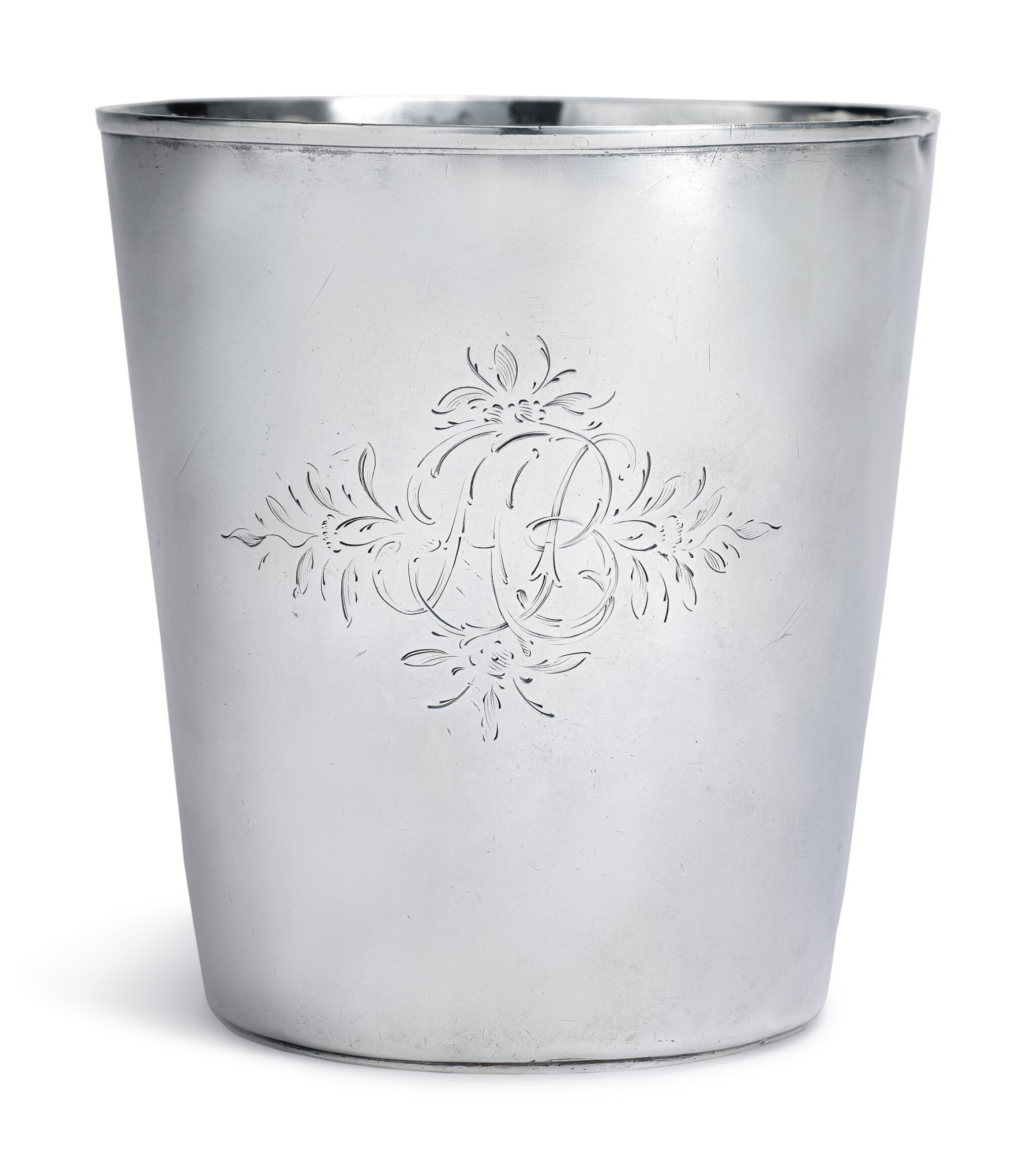 View full screen - View 1 of Lot 149. AN AMERICAN SILVER CUP, MYER MYERS, NEW YORK, CIRCA 1775.