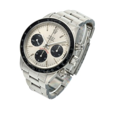 View 2. Thumbnail of Lot 277. Reference 6263 'Big Red' Daytona  A stainless steel chronograph wristwatch with registers and bracelet, Circa 1981 .