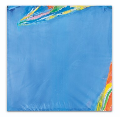 View 1. Thumbnail of Lot 129. Tout bleu clair taches vives.