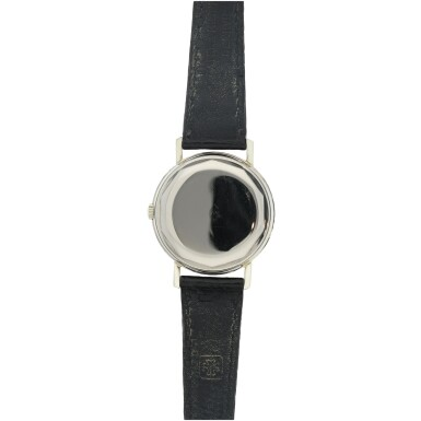 View 4. Thumbnail of Lot 145. REFERENCE 3541 A WHITE GOLD WRISTWATCH WITH DATE, MADE IN 1967.