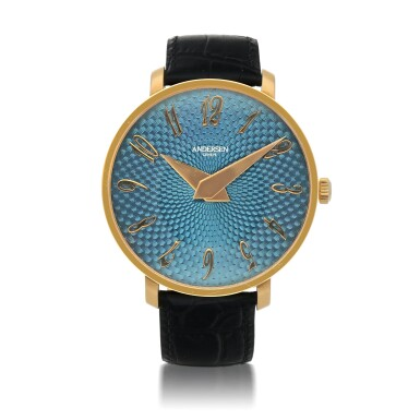 View 1. Thumbnail of Lot 476. KRONE LIMITED EDITION YELLOW GOLD WRISTWATCH WITH ENAMEL DIAL CIRCA 2010.