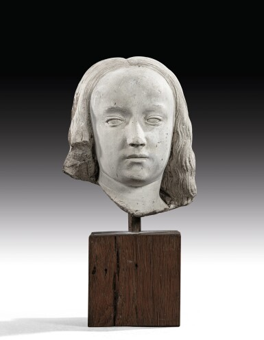View 2. Thumbnail of Lot 9. CIRCLE OF JEAN GUILHOMET, KNOWN AS JEAN DE CHARTRES  |  HEAD OF A YOUNG GIRL.