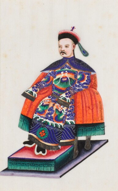 View 20. Thumbnail of Lot 163. A set of fourteen Chinese paintings on silk, Canton, 19th century.
