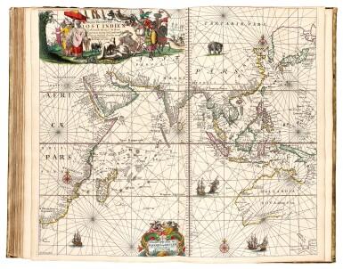 View 1. Thumbnail of Lot 296. Keulen. De Groote Nieuwe Vermeerderde Zee-Atlas ofte Water-Werelt. 1685, fine hand-colouring.