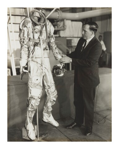 View 3. Thumbnail of Lot 8. [SPACESUIT TESTING]. ARCHIVE OF PHOTOGRAPHS DOCUMENTING SPACESUIT TESTING, CA 1958-1975.