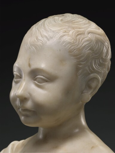 FOLLOWER OF DESIDERIO DA SETTIGNANO (CIRCA 1429-1464), ITALIAN, FLORENCE, SECOND HALF 15TH CENTURY | BUST OF A BOY, POSSIBLY THE INFANT CHRIST