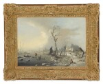 DUTCH SCHOOL, 18TH CENTURY | A WINTER LANDSCAPE WITH FIGURES