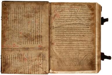 View 1. Thumbnail of Lot 236. Pelbartus de Themeswar, Sermones pomerii de sanctis, Lyon, 1514, contemporary stamped calf.