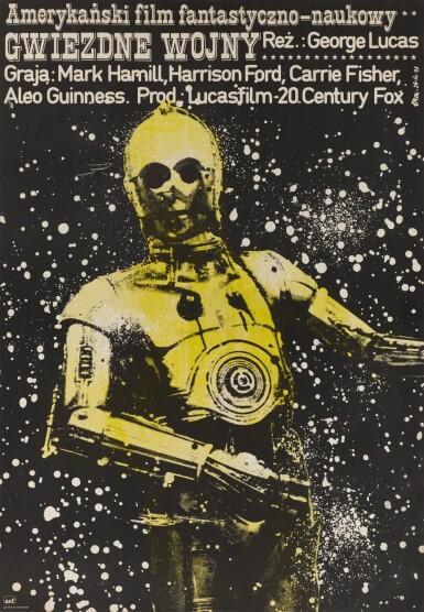 STAR WARS/GWIEZDNE WOJNY, FIRST POLISH RELEASE POSTER, JAKUB EROL, 1979