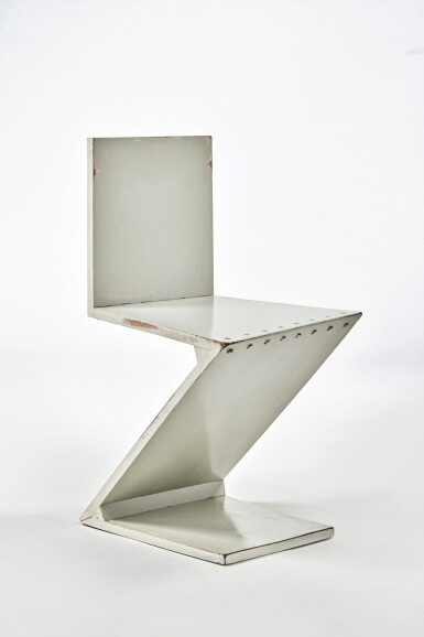 """View 1. Thumbnail of Lot 12. """"Zig-Zag"""" Chair."""