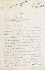 Portraits de musiciens. Manuscrit autographe. [1895]. 4 poèmes sur 5 grand feuillets.