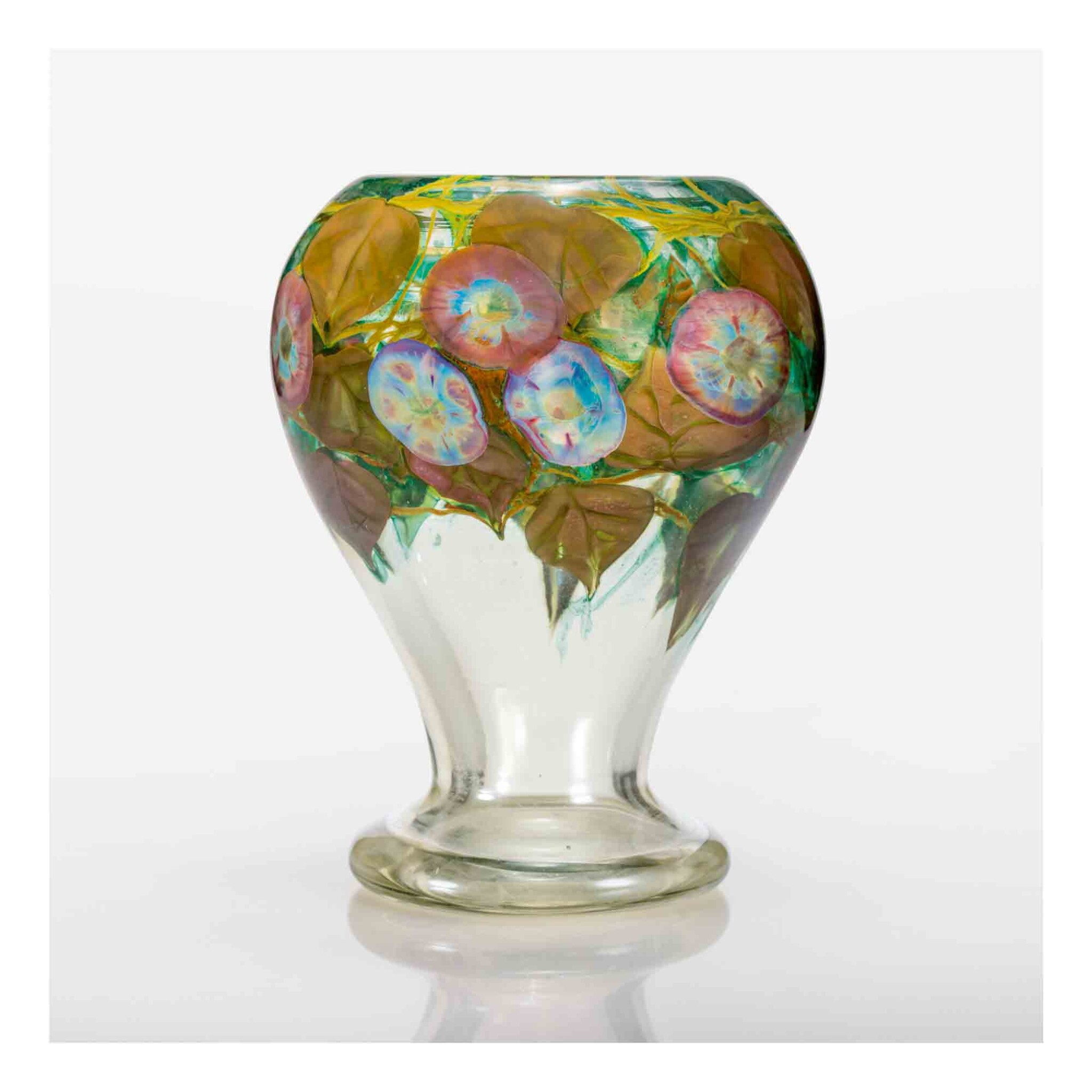 """View full screen - View 1 of Lot 515. """"Morning Glory"""" Paperweight Vase."""
