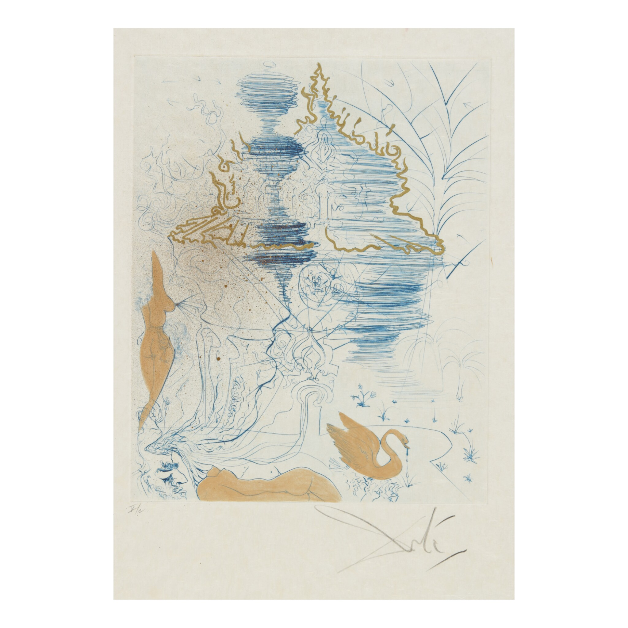 View full screen - View 1 of Lot 93. SALVADOR DALÍ   THE HIPPIES (MICHLER & LÖPSINGER 377-387; FIELD 69-13).