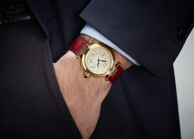 View 4. Thumbnail of Lot 18. CARTIER | PASHA, REFERENCE 1988 820901, YELLOW GOLD WRISTWATCH WITH DATE, CIRCA 1989.