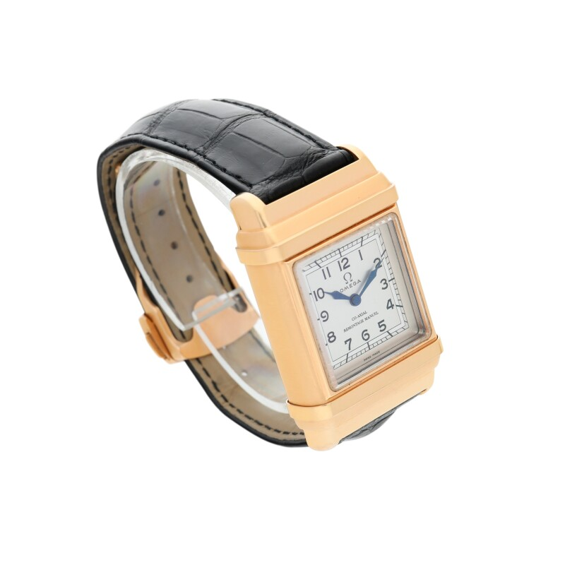 Marine 1932  A Limited Edition Pink Gold Double Cased Rectangular Wristwatch, circa 2016