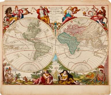 View 1. Thumbnail of Lot 57. WORLD MAP | Elwe, Mappe Monde, 1792.