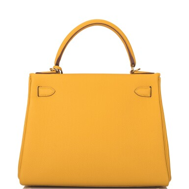 Hermès Ambre Retourne Kelly 28cm of Togo Leather with Gold Hardware