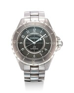 CHANEL | J12, REFERENCE H2934, A TITANIUM WRISTWATCH WITH DATE AND BRACELET, CIRCA 2011