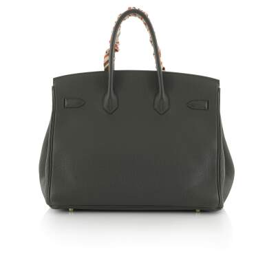 View 2. Thumbnail of Lot 34. Vert Cypress Birkin 35cm in Togo Leather with Gold Hardware, 2012.