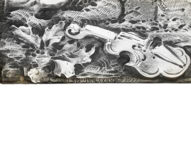 View 2. Thumbnail of Lot 86. A FINE ITALIAN BAROQUE SILVER PLAQUE, CAREL BOLCOOL, GENOA OR ROME, CIRCA 1677.